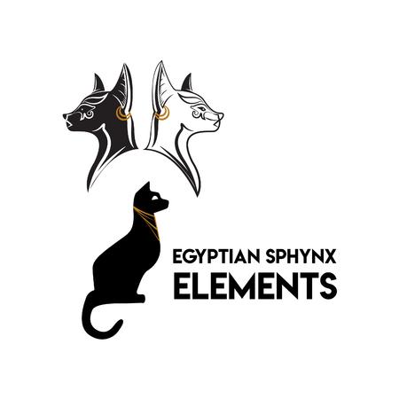 Egyptian Sphynx Cat Elements Reklamní fotografie - 93767398