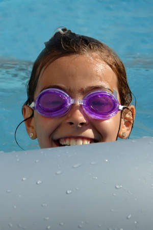 Kid in the pool                                Stock Photo