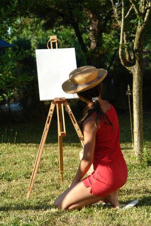 Painter kid Stock Photo