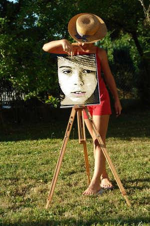 Girl paint portrait