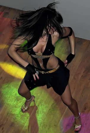 Sexy woman dancing                                Stock Photo