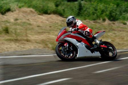 The moto racer                                  Stock Photo