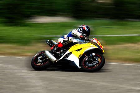 The moto racer Stock Photo - 3304015