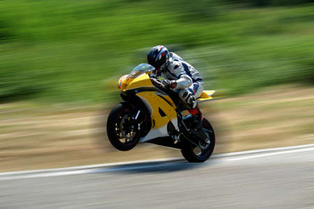 The motorcycle jump