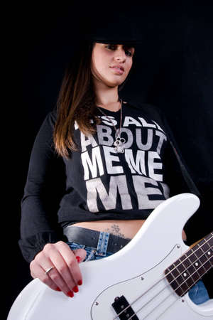 Girl with guitar Stock Photo - 4258540
