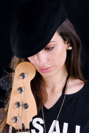 Girl with guitar Stock Photo - 4258560
