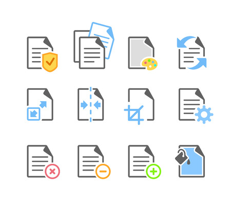 Document File Paper Page Edit Tool Options Icon Vektorgrafik