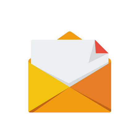 Simple Flat minimalist Email letter paper symbol icon