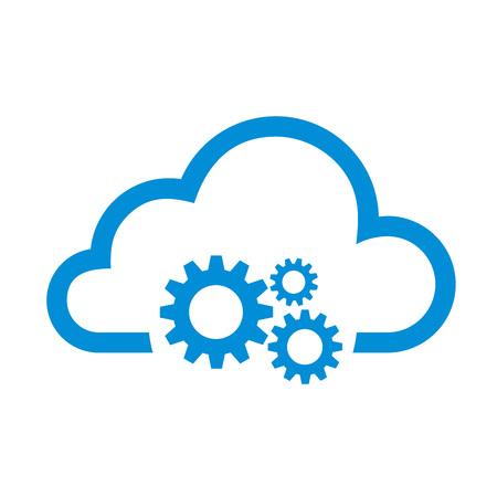 Icono de aplicación de edición de gestión de nube minimalista plana simple