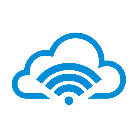 Simple Flat Minimalist Cloud Signal User App Icon
