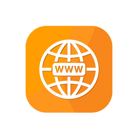 Flat world globe browser App Icon Graphic Resources