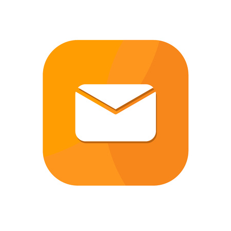 Flat minimalist email App icon in rounded square gradient background