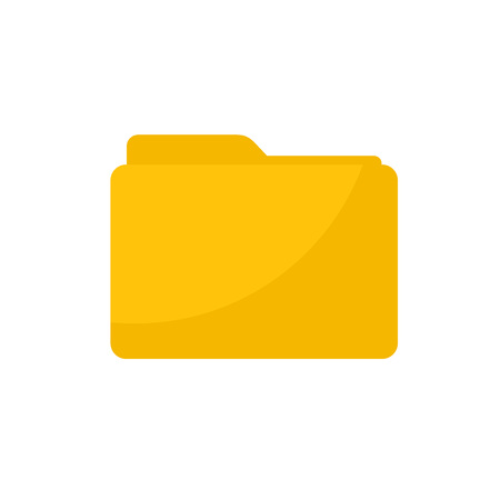 Simple Flat minimalist yellow blank folder icon