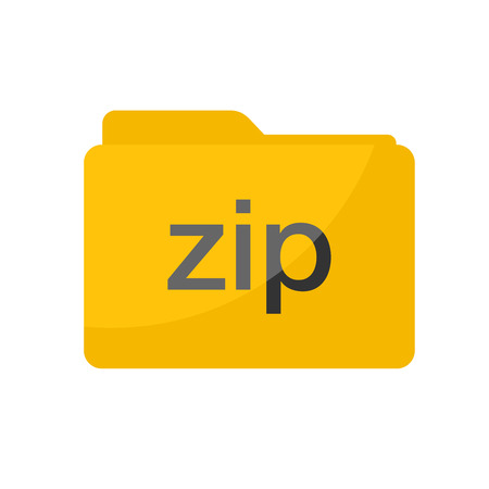 Simple Flat minimalist zip file folder icon
