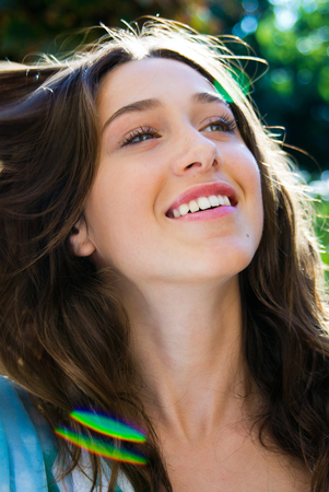 Outdoor Portrait of beautiful young woman