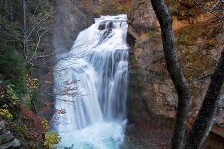 Falls in Ordesa National Park, Pyrenees, Huesca, Aragon, Spain 版權商用圖片