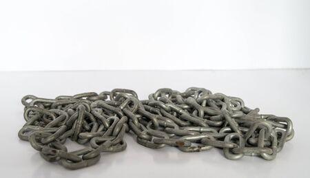 heavy chains: metal chain Stock Photo