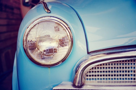 car lights: car lights vintage in thailand Stock Photo