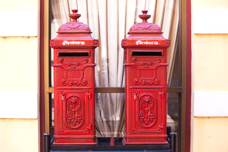 Classical thai mail box  photo