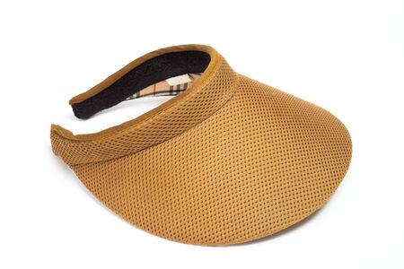 visor: brown visor isolated on a white