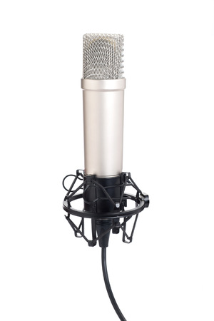 condenser: condenser microphone isolated on a white background