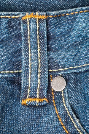 Close up detail  belt loops on blue jeans Stock Photo - 29085441
