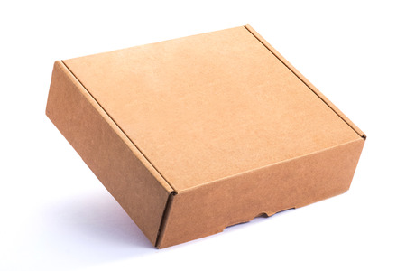 packaging move: Empty Cardboard Box isolated on a White background