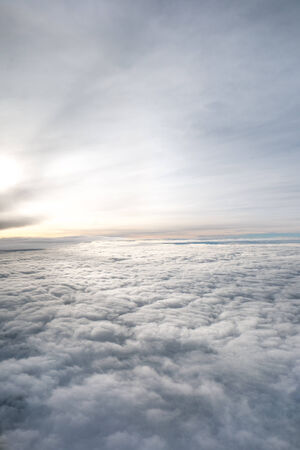 clouds. view from the window of an airplane flying in the clouds Stock Photo