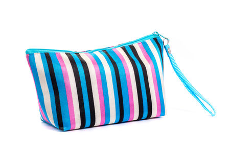 Cosmetic bag  studio photography of cosmetic bag - isolated on white background