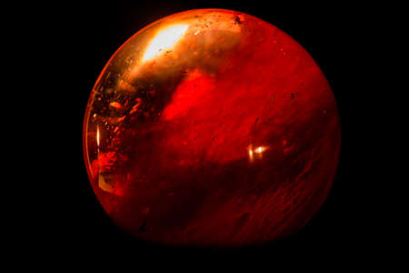 Red ball glass sphere photo