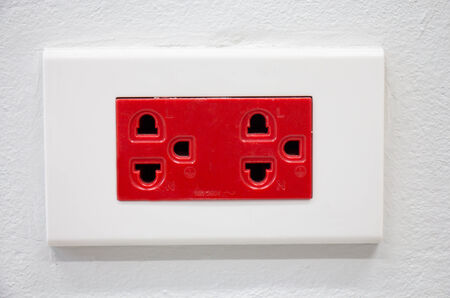 receptacle: Electric receptacle for emergency system Stock Photo