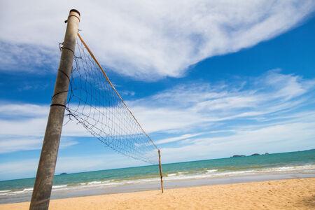 volleyball net: Volleyball net on the  beach