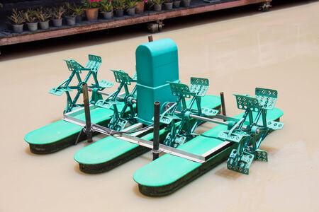 oxigen: Water wheel for increase oxigen in the water