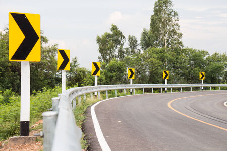 curve road: Curve way road in Thailand