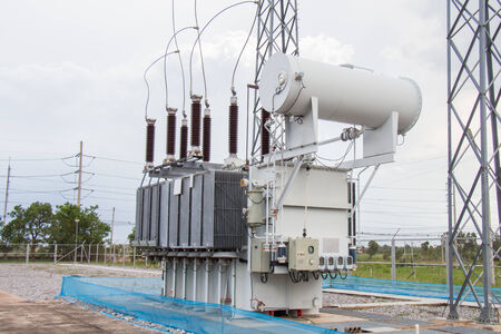 sub station: Power transformer in sub station 115 kv 22 kv