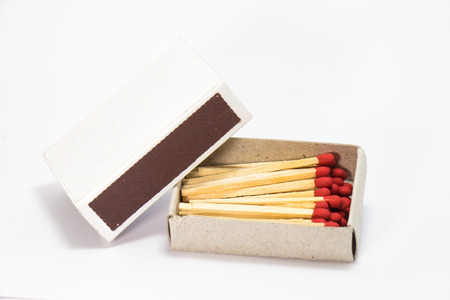 Match in a box in white background Stock Photo - 29344757