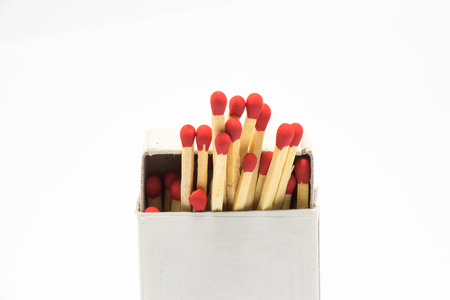Match in a box in white background Stock Photo - 29344756