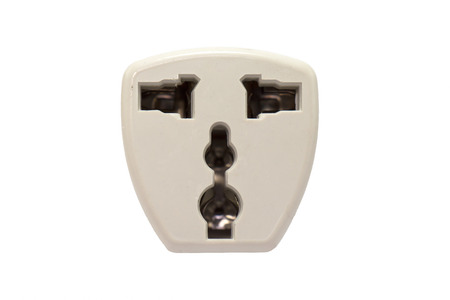 receptacle: Receptacle in white isolate background Stock Photo