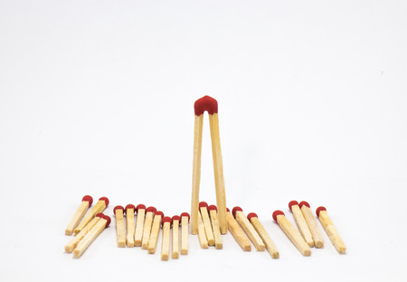 Match in a white background