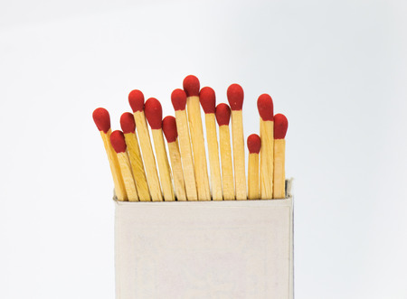 Match in a box in white background photo