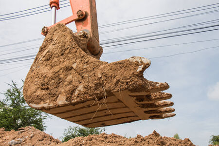 earth moving equipment: Hand of tractor