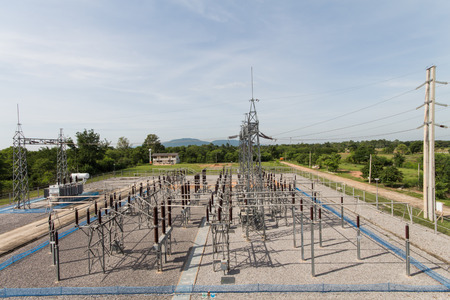 sub station: Sub station 115 22 kV outdoor type bird eye view