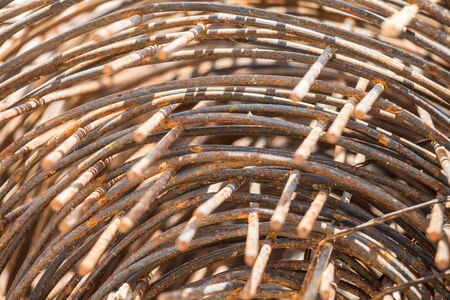 constraction: Rusty rebar It is used in construction Stock Photo