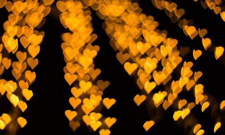 Color Bokeh heart shape background photo