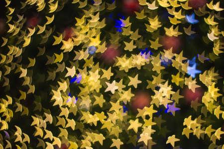 Star shape lighting bokeh background photo