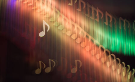 Defocused note melody background ( Bokeh ) for song photo