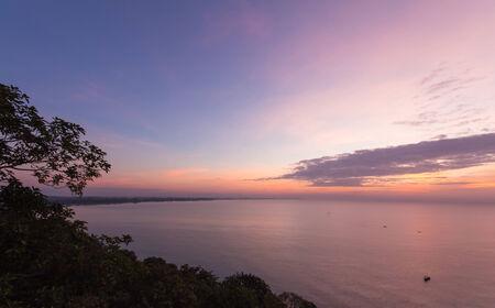 Sea scape in twilight time photo