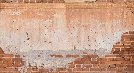 rupture: old wall rupture brick texture background Stock Photo