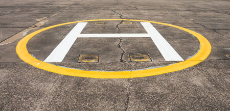 heliport: Heliport sign for helicopter landing