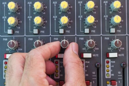 decibel: Adjusting audio sound mixer with buttons and sliders